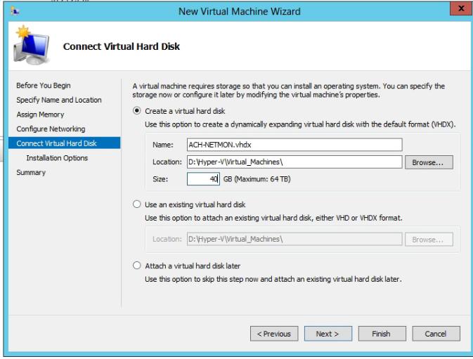 Create VHD Hyper-V