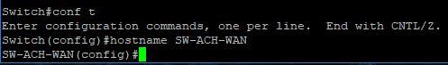 Cisco 2960G VLANs - Hostname Change