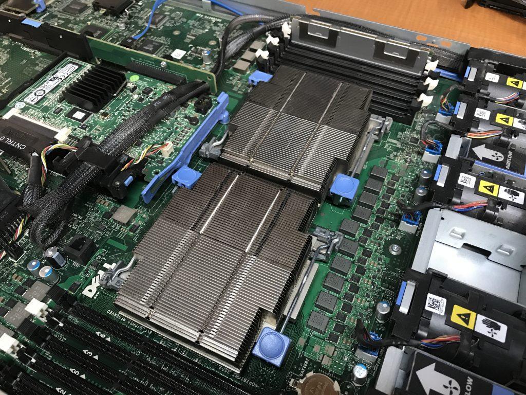Dell R610 Intel Xeon CPU Upgrades - Heat Sinks Installed