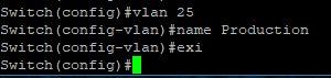 Cisco 2960G VLANs 25 Creation