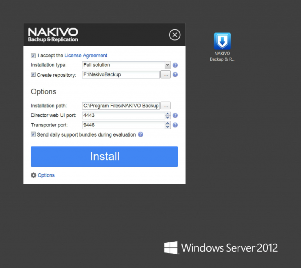 Nakivo_Options